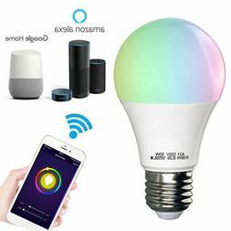 WiFi Smart Light Bulb Bulbs Dimmable LED E26 for Google Home
