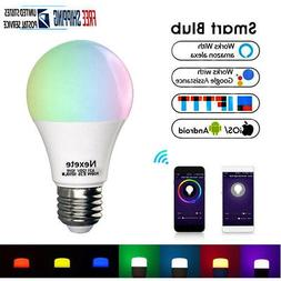 Wifi Smart RGBW LED Light Bulb for Amazon Alexa/Google Home