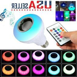 Wireless Bluetooth LED Light Speaker Bulb RGB E27 12W Music