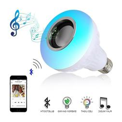 Wireless Bluetooth Smart Speaker Led Music 12W Bulbs Dimmabl