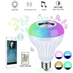 Wireless Smart Multi-Color Light Bulb Bulbs Dimmable LED E27