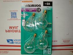3x OSRAM SYLVANIA 40W A15 2x Life Small Socket Light Bulbs 4