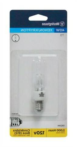 Westinghouse Xenon Bulb 40 W 560 Lumens T3 E12 Candelabra Cl