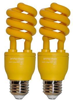 yellow bug light spiral cfl